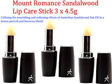 3 x 4.5g Mount Romance Sandalwood Lip Care Stick ( Bulk 3 pcs )