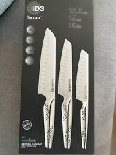 Baccarat iD3 Japanese Steel 3 Piece Santoku Knife Set Brand New