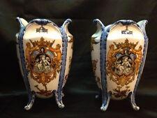 Pair of lovely late 19th century Gien French vases