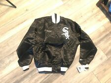 Nwt's Starter 1980's Black Satin Chicago White Sox Jacket Men's Large Big Logo