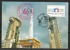 France 1989 August 8 space Maxi Card Ariane 4 Launch in Kourou