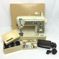 Singer Model 648 Sewing Machine Touch & Sew Special Zig Zag W/ Foot Pedal TESTED