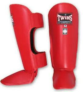 Twins Special Professional Leather Shin Guards - SGL2