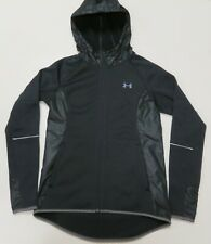 Under Armour Jacket Swacket Womens Small Black Hoodie Coldgear Loose Storm