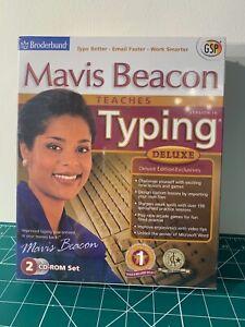 New Mavis Beacon Teaches Typing Software Deluxe Version 16 CD