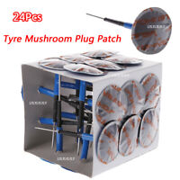 24 X TYRE PUNCTURE REPAIR PLUG PATCHES 36MM CAR BIKE MUSHROOM PATCH USEFUL