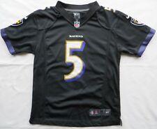 JOE FLACCO #5 Jersey Shirt Baltimore Ravens Nike On Field Black Youth M 10 12