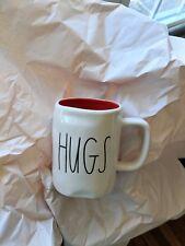 Rae Dunn Hugs Kisses Double Sided Mug Red Interior Valentine's Day