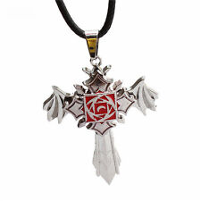 Anime Vampire Knight Silver Cross Rotatable Metal Pendant Necklace Jewelry Gifts