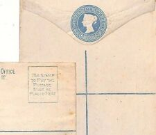 Ae33 Gb Qv 2d Blue Registered Postal Stationery 1880 Matched Pair Covers{2}