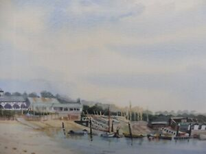 BEMBRIDGE SAILING CLUB IOW ARTIST DIANA TUNNICLIFFE FREE SHIPPING TO ENGLAND