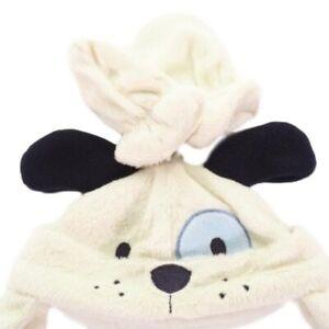 Infant Hat Glove SIze 0 to 6 M 2 Piece Puppy Soft Plush One Size Vitamin Baby