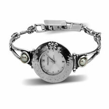 Charm Lovely Sterling Silver Watch Shablool fresh water pearls White