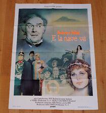 E LA NAVE VA poster manifesto Federico Fellini Lirica Crociera Barbara Jefford