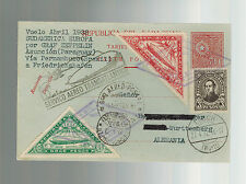 1932 Paraguay Graf Zeppelin Cover to Herman Sieger Lorch Germany  LZ 127