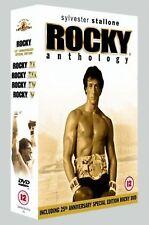 Rocky Anthology - 5 Disk Box Set Sylvester Stallone, Burt Young UK Region 2 DVD