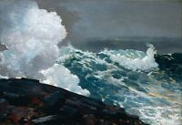 Oil painting Northeaster by Winslow Homer seascape with ocean waves no framed @@
