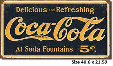 Coca Cola 1910 Logo RUSTIC Metal Tin Sign 1235  LICENSED Made in USA