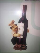 Hand painted Resin Bottle Chef Wine Holder - New in Box