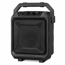 Portable Outdoor Bluetooth Party Stereo Speaker Rechargeable Black with Trolley