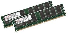 2x 1GB 2GB RAM Speicher DIMM DDR 200Mhz PC1600 184pin