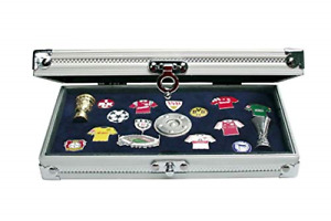 SAFE Collectors Aluminium Case for Pins, Medals, Buttons and Badges. Official x