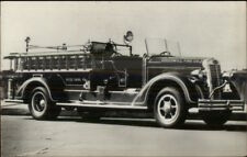 Hyde Park PA Goodwill Fire Engine Autocar Advertising 1940 Real Photo Postcard