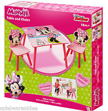 Minnie Mouse Sitzgruppe Tisch Kindersitzgruppe Spieltisch Kindertisch Set 527MMU