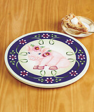 COLORFUL WOODEN PIG LAZY SUSAN