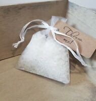 Snow confetti in Organza Bags with TAG - Winter wonderland wedding Biodegradable