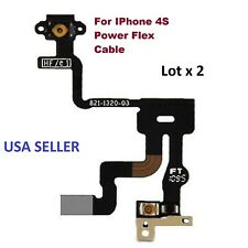 Lot x 2 Power Button Proximity Light Sensor Induction Flex Cable for iPhone 4S