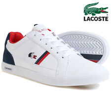 lacoste europa 317 1 spm leather trainers white navy shoes mens 7-34spm0012042