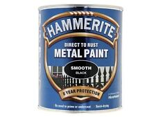 Hammerite - Direct to Rust Smooth Finish Metal Paint Black 750ml