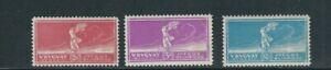 URUGUAY 1924 PARIS OLYMPICS (Scott 282-84) VF MLH