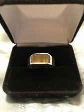 Sterling Tiger Eye Ring Silver Size 11 Modern Sophisticated