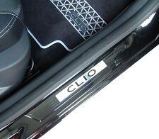 Renault Clio IV III Seuils de porte noir Logo Aspect laque piano d'origine neuf