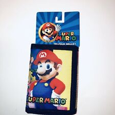 """Super Mario Wallet - """"New"""" Officially Licensed Nintendo Trifold Kids"""
