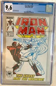 IRON MAN #219  CGC 9.6 WHITE Pages - 1st appearance Ghost - MCU