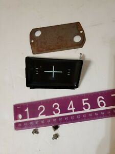 1963 Impala Bel Air Biscayne Clock Delete Plate Dash Original GM 64 chevrolet