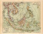 1887 SINGAPORE SIAM VIETNAM CAMBODIA INDONESIA MALAYSIA PHILIPPINES BURMA Map