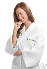 Monogrammed Waffle Weave Robe, Lightweight-NEW