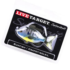 "LIVE TARGET Sunfish Swimbait SFS90MS Slow Sinking 3.5"" 1/2oz - NATURAL BLUEGILL"