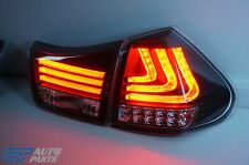 Black LED Sequential Indicators Tail lights for 04-09 Lexus RX330 RX350 RH400H