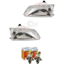 Headlight Set (Right and Left) Peugeot 106 Year 91-96 Incl. Philips Lamps 7BT