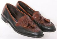 Cole Haan Bragano 12600 Brown Leather Tassel Casual Loafer Shoes Men's US 9D