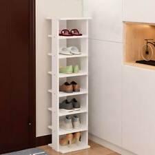 7-tier Wooden Shoe Storage Rack Stand Organiser Unit Kids Corner Shoe Shelves UK