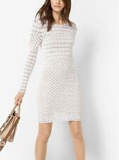 MICHAEL KORS Hand-Crocheted Cotton Dress ~ White ~ SIZE LARGE~NWT~ $195