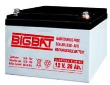 Batteria Ermetica Ricaricabile al Piombo 12V Volt 26Ah MADE IN ITALY  BIGBAT