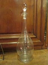 ancienne grande carafe en verre taillé epoque art deco 1940 36 cm !