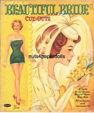 Vintge 1960 Beautiful Bride Paper Doll Hd Laser Repro~Lo Price~Hi Qual~Top Sel